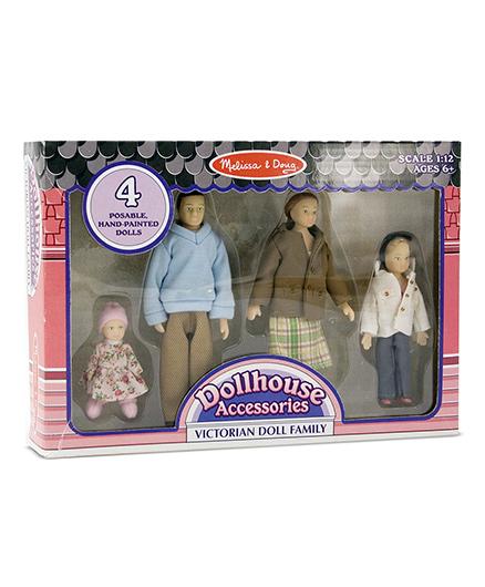 Melissa & Doug Victorian Doll Family - Multi Color
