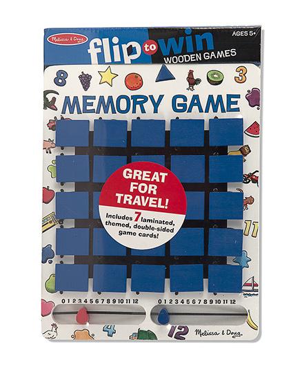 Melissa & Doug Flip to Win Memory Game - Blue