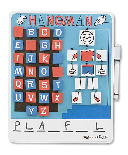 Melissa & Doug Flip to Win Hangman Board Game - Blue