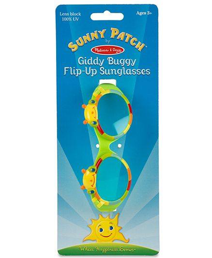 Melissa & Doug Giddy Buggy UV Protected Flip-Up Sunglasses - Green