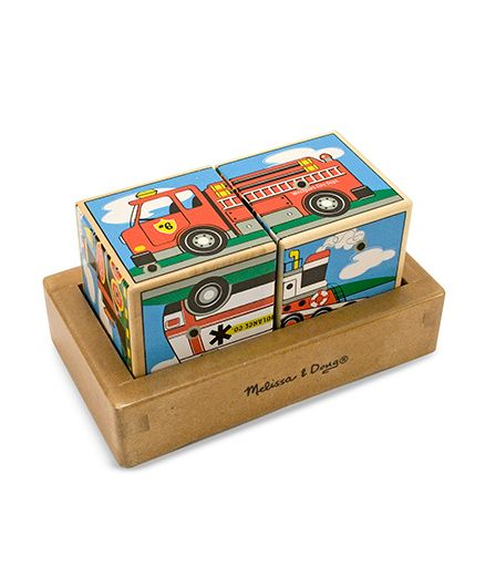 Melissa & Doug Wooden Vehicle Sound Blocks - 2 Pieces