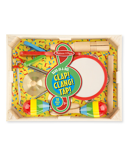 Melissa & Doug Band In A Box Clap Clang Tap 10 Pieces - Multi Color