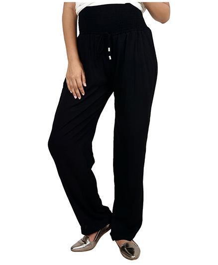 9teenAGAIN Straight Fit Maternity Comfort Pants - Black