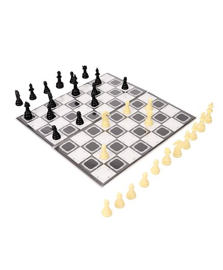 Ratnas Little Chess And Snake Ladder Game - Multicolor