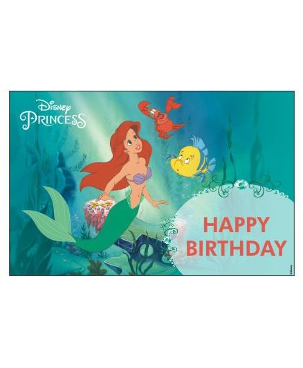 Disney Ariel The Mermaid Table Mats Pack of 6 - Green