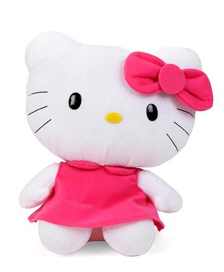 Starwalk Hello Kitty Plush Soft Toy In Dress Pink & White - Height 30 cm
