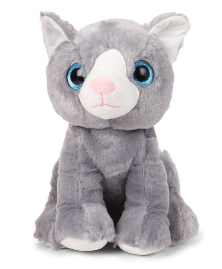 Starwalk Cat Plush Soft Toy Grey - Height 24 cm