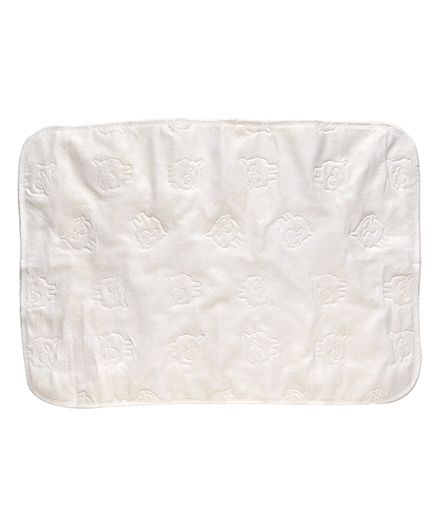 Playette Travel Cot Pad Embossed Water Resistant - White