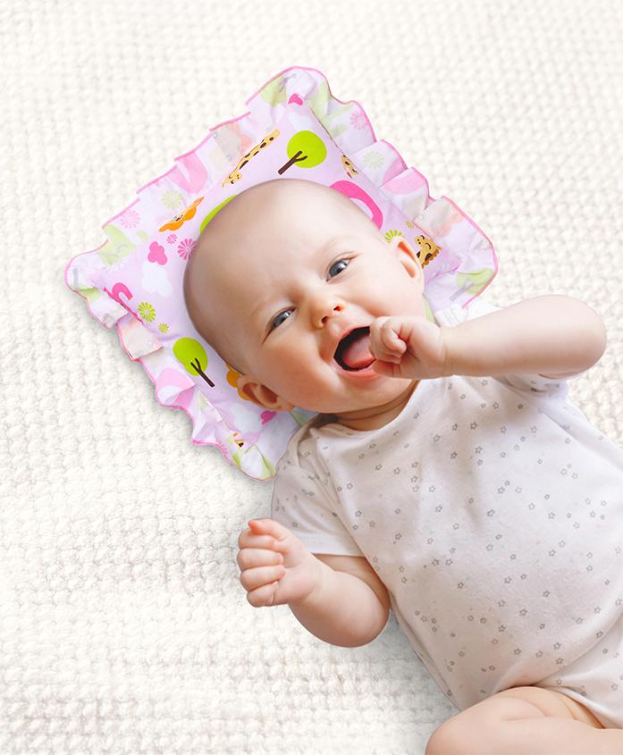 Babyhug Jungle Safari Pillow - Pink
