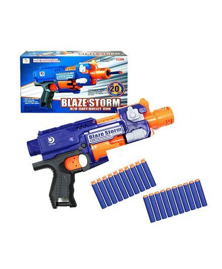Emob Battery Operated Blaze Storm Bullet Gun - Blue Orange