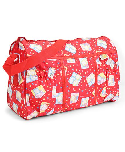 Mee Mee Nursery Bag Multi Print - Red
