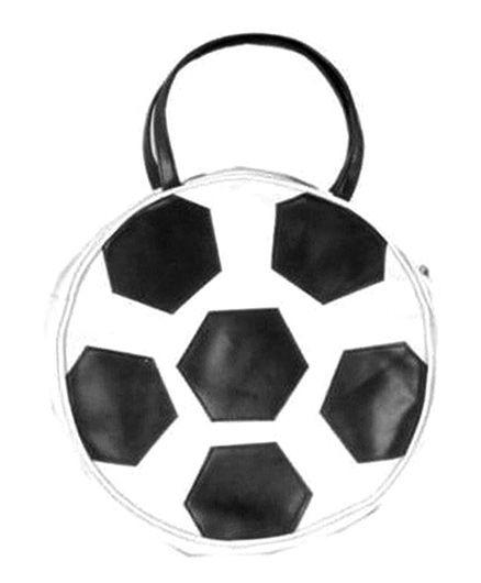 Kidzbash Handbag Football Shape - Black White