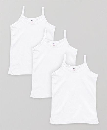 Simply Singlet Slips Plain Pack Of 3 - White