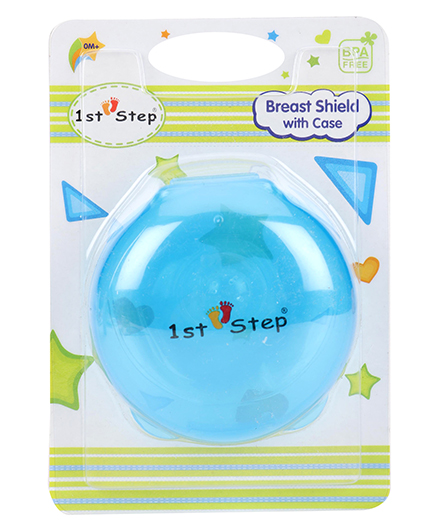 1st Step Breast Shield With Case - Blue