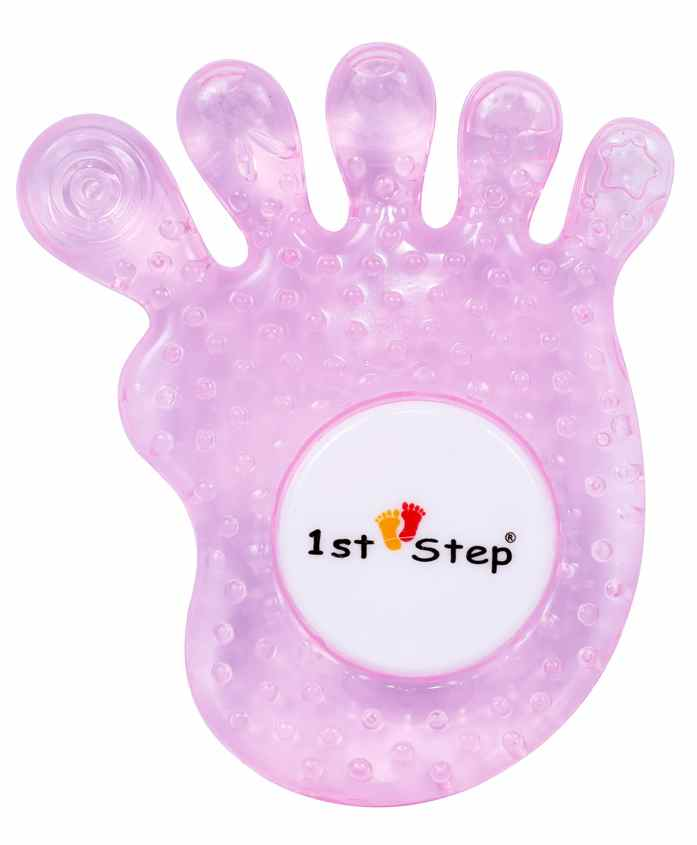 1st Step Water Filled Teether Funny Shape - Pink