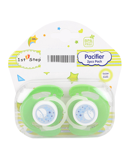 1st Step Baby Pacifiers Pack Of 2 - Green