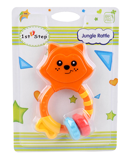 1st Step Jungle Rattle - Orange