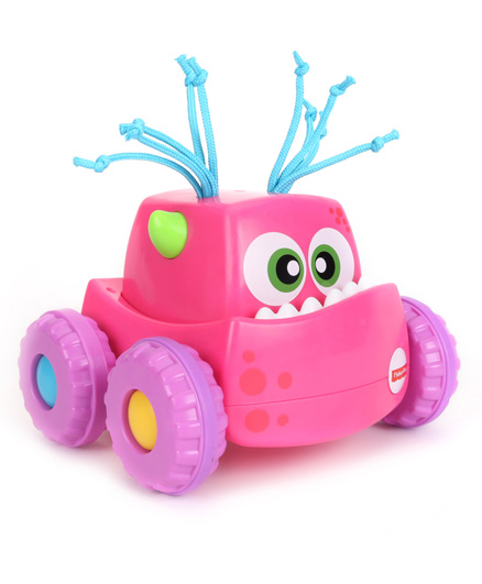 Fisher Price Press N Go Monster Truck - Pink Purple