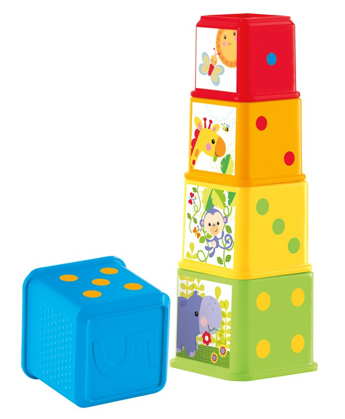 Fisher Price Stack & Explore Blocks - Multicolor
