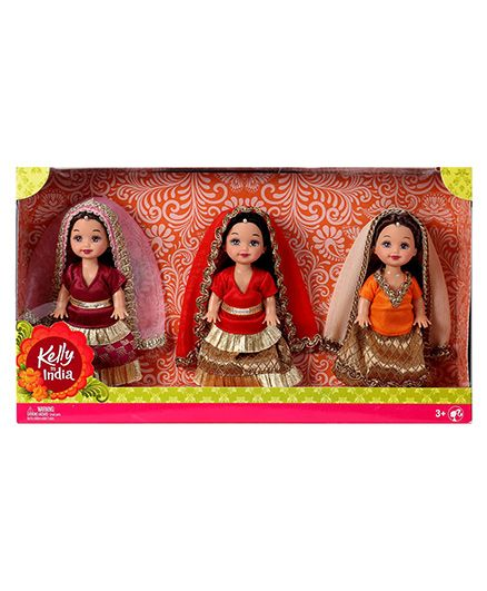 Kelly In India Doll Pack Of 3 - Multi Color