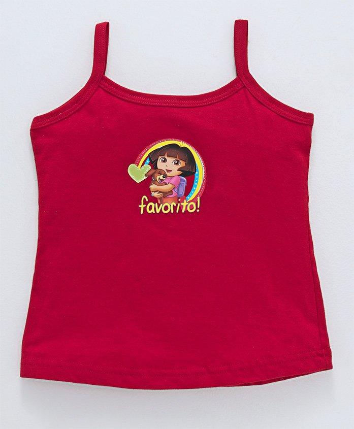 Dora Singlets Slips With Print - Red