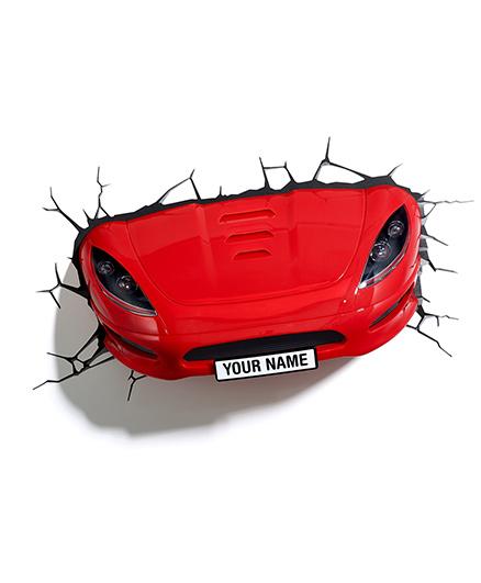 3D Light Sports Car 3D Deco Light - Red