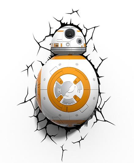 3D Light Star Wars Led Bulb - White And Orange