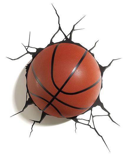 3D Light Basketball 3D Deco Light - Brown