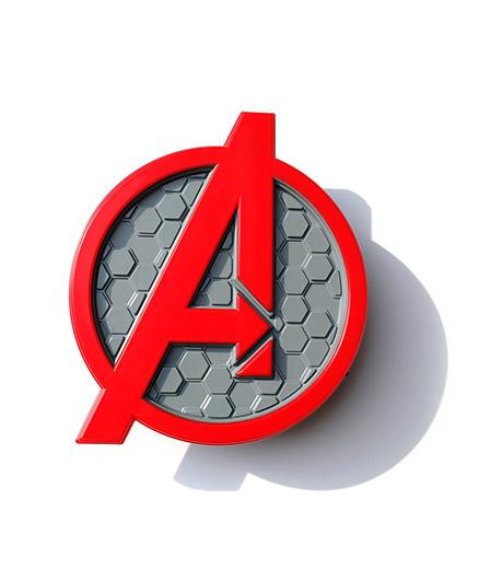 3D Light Avengers Logo Deco Light - Red