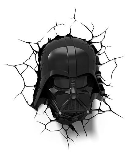 3D Light Star Wars Darth Vader Helmet Led Bulb - Black