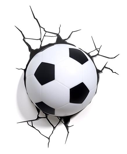 3D Light Soccer Ball 3D Deco Light - White And Black