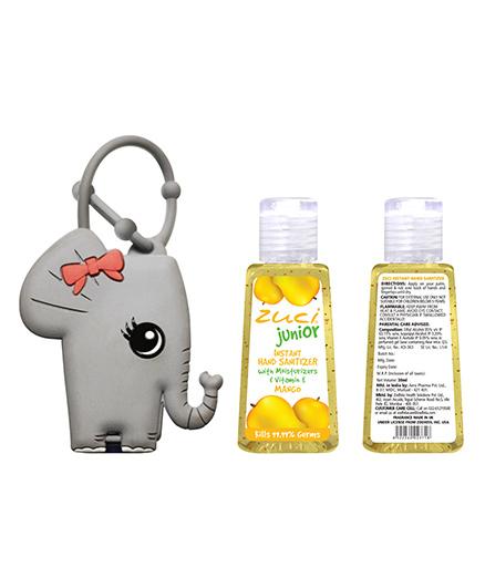 Zuci Junior Mango Hand Sanitizer With Elephant Bag Tag - 30 ml