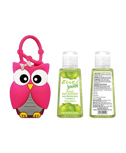 Zuci Junior Green AppleHand Sanitizer With Owl Bag Tag - 30ml