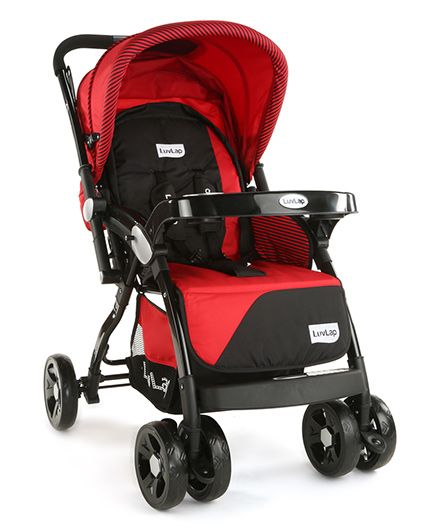 LuvLap Galaxy Baby Stroller - Red & Black