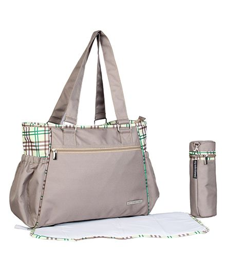 My Milestones Diaper Bag Spectra Checks Design - Beige
