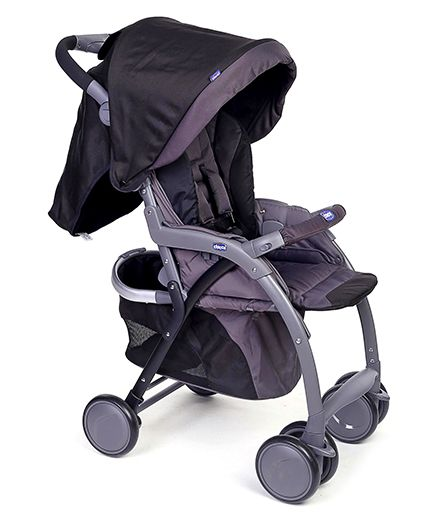 Chicco Simplicity Plus Stroller - Black Purple