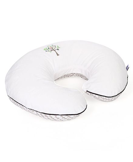 Chicco Boppy Pillow With Tree Slipcover - Cream