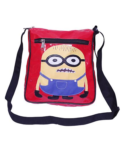 Kidzbash Sling Bag Minion Print - Red