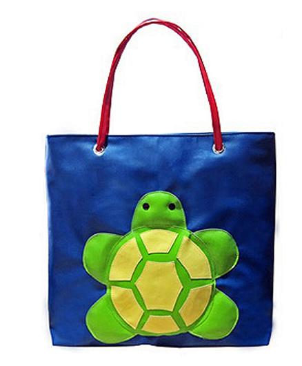 Kidzbash Hand Bag Turtle Patch - Blue & Green