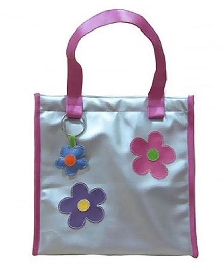 Kidzbash Hand Bag Floral Patch - Silver