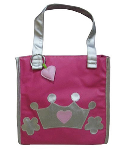 Kidzbash Hand Bag Princess Crown Patch - Pink & Silver
