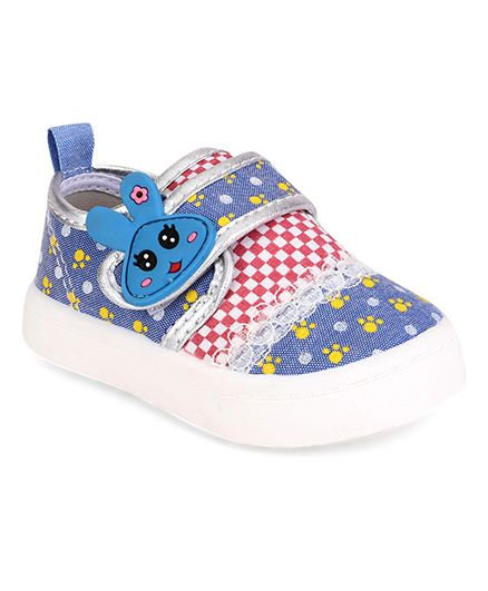 Cute Walk by Babyhug Casual Shoes Bunny Patch - Blue
