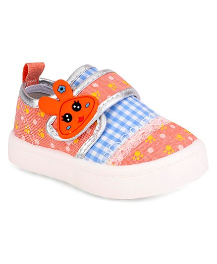 Cute Walk by Babyhug Casual Shoes Bunny Patch - Light Orange