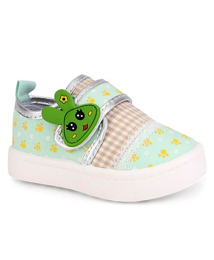 Cute Walk by Babyhug Casual Shoes Bunny Patch - Light Green