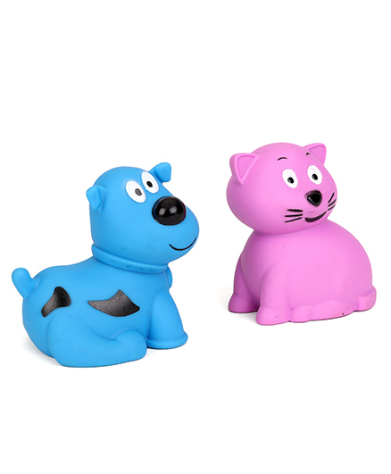 Giggles Animal Shaped Squeaky Bath Toys Pack of 2 - Blue Purple