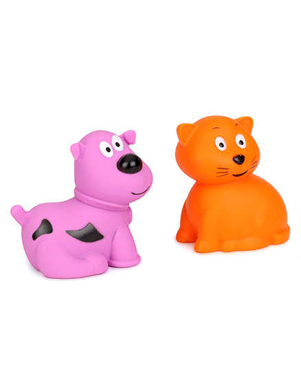 Giggles Animal Shaped Squeaky Bath Toys - Pack of 2