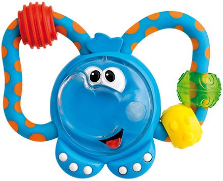 Chicco Fun Teething Rattle - Blue Elephant