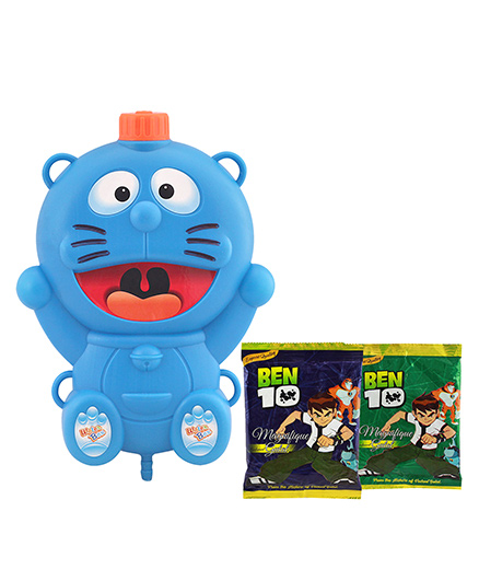 DealBindaas Holi Water Gun Shape Squirter With Ben 10 Gulal - Multi Color (Colors May Vary)