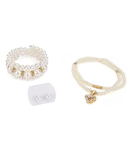 Fantasy World Pearl Jewelry Set - Off White