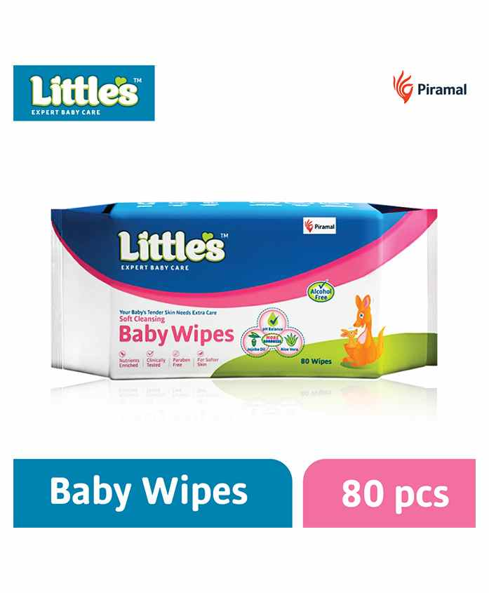 Littles Soft Cleansing Baby Wipes - 80 Pieces